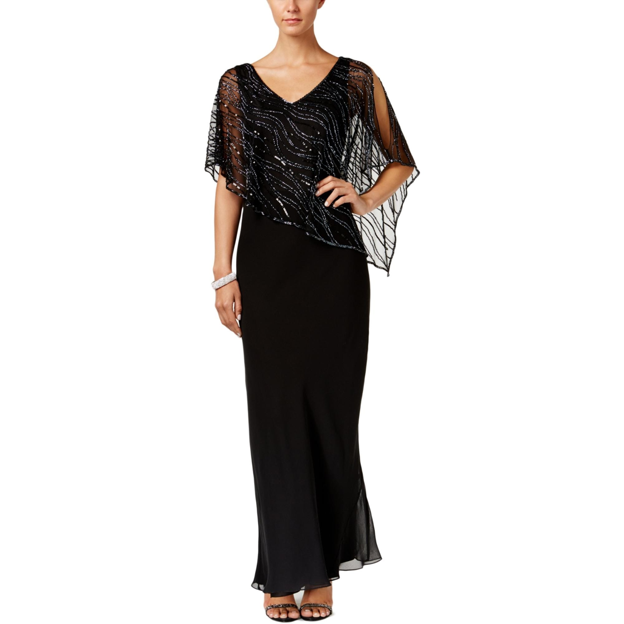 Shop J Kara Womens Evening Dress
