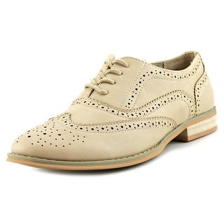 Wanted Babe Women Moc Toe Synthetic Oxford