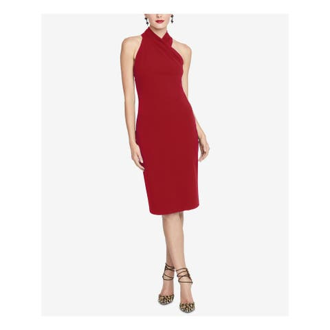 RACHEL ROY Red Sleeveless Below The Knee Dress XS
