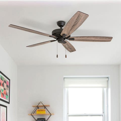 Porch & Den King Bronze Finish 60-inch Reversible Blade Ceiling Fan w/ Pull-chains - 60