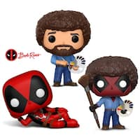 Funko Pop! Marvel: Deadpool Parody - Deadpool, Deadpool Playtime - Bob Ross and Television: Bob Ross (3 Items)