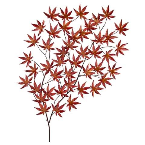 "Handcrafted Metal Leaf Wall Art // 29"" x 43"""