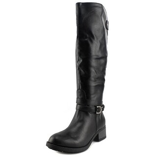 Rampage Womens IMELDA Leather Round Toe Knee High Riding Boots (More options available)