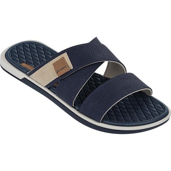 696152e3f20d Shop Rider Men s Valencia Slide Blue Beige - Free Shipping On Orders Over   45 - Overstock - 11795226