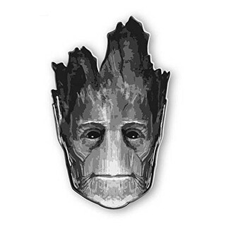 """Marvel Guardians Of The Galaxy Pewter Pin: """"Groot (Head)"""" - Silver"""