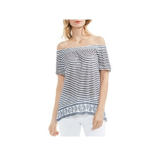 Two by Vince Camuto Womens Casual Top Linen Striped