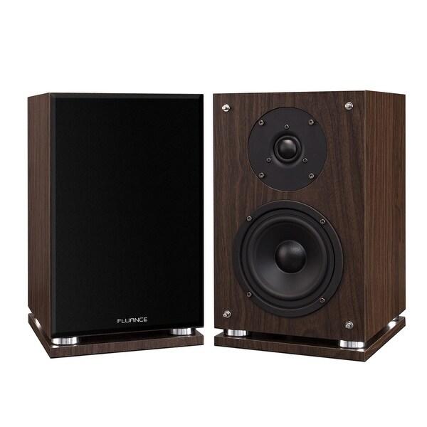 Fluance SX6W High Definition Two-way Bookshelf Loudspeakers (Natural Walnut)