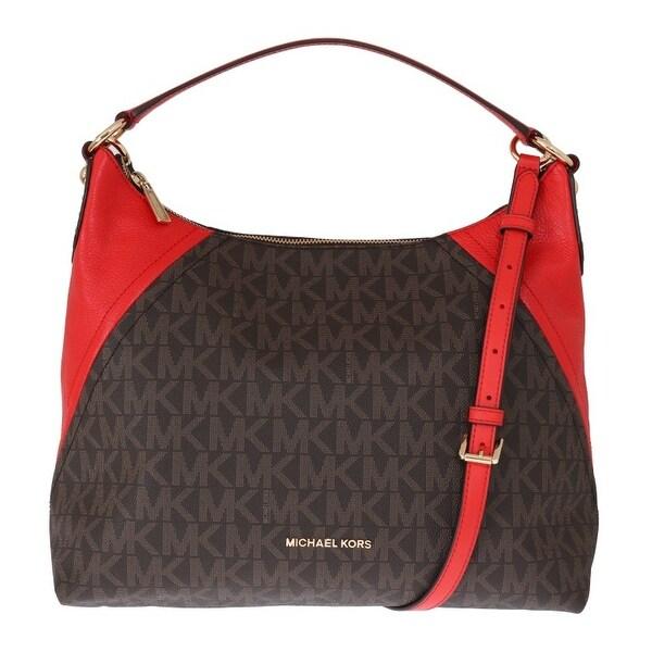 662ef086f7b8 Shop Michael Kors Handbags Brown ARIA Leather Shoulder Bag - One ...