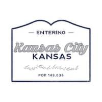 Kansas City, KS- Now Entering (Blue) - LP Artwork (Art Print - Multiple Sizes)