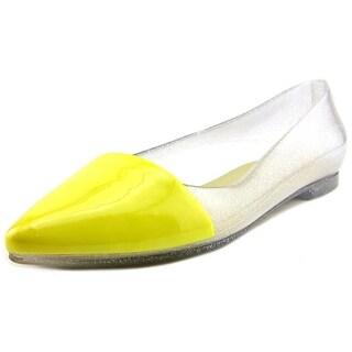 Cape Robbin Belita Women Pointed Toe Synthetic Yellow Flats (Option: 7)