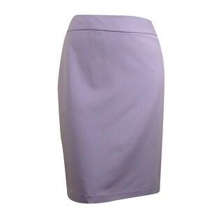 Nine West Women's Zip Up Pencil Skirt - LILAC