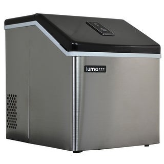 Luma Comfort IM200SS 28 Pound Clear Portable Ice Maker - Stainless Steel