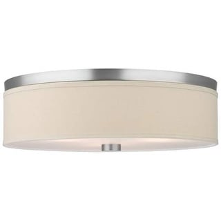 "Forecast Lighting F131936U 2 Light 20.5"" Wide Flush Mount Ceiling Fixture from the Embarcadero Collection - Satin Nickel"