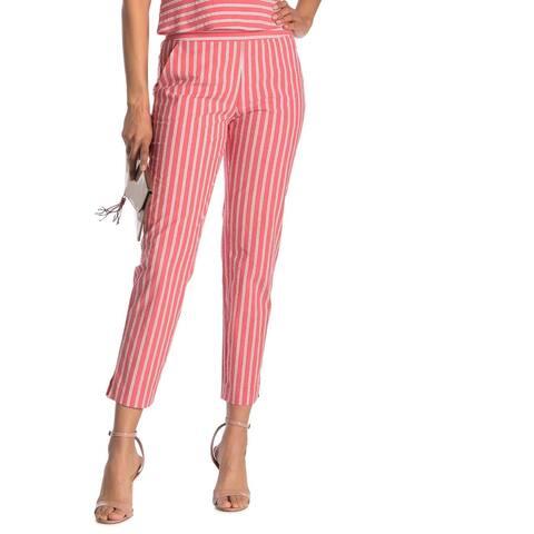 Rachel Rachel Roy Women's Dress Pants Vivid Pink Size 14X22 Seersucker