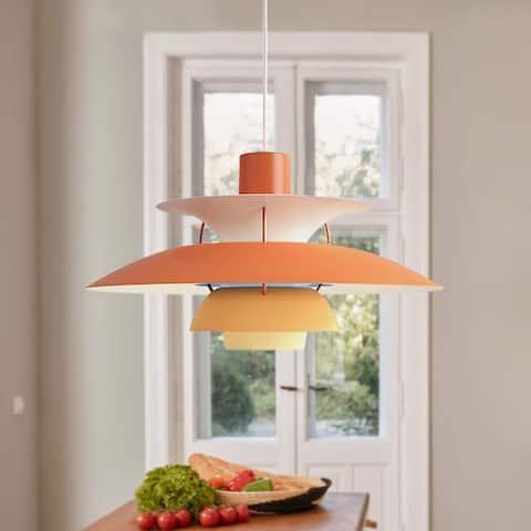 1 - Light Orange Single Dome Pendant