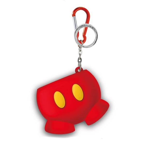 Disney Coin Ring Holder Key Ring: Mickey Mouse Pants - Multi-Colored