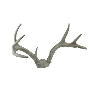 Faux Aged Finish Wall Mounted Deer Antlers 15 Inch