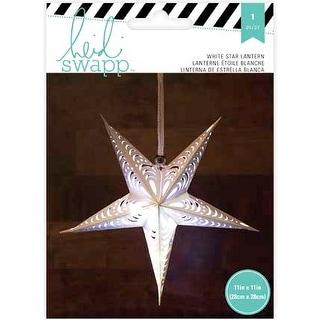 """Heidi Swapp 5-Point Star Paper Lantern 11""""-White"""