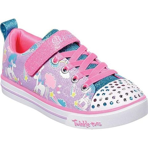 7659df474dc Skechers Girls  Twinkle Toes Sparkle Lite Sparkle Friends Sneaker Lavender  Multi