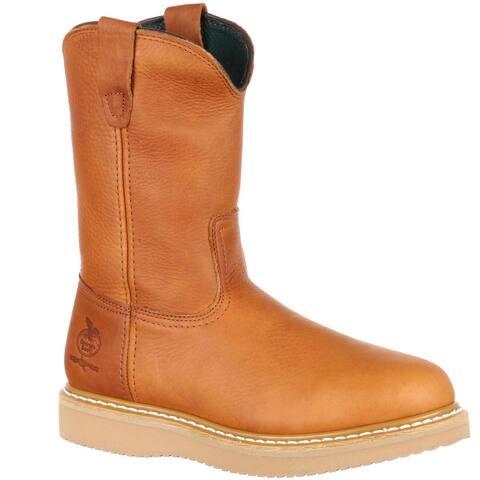 "Georgia Boot: Men's 10"" Farm & Ranch Pull-On Wellington Work Boot - Style #G5153"