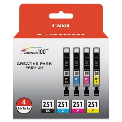 Canon Black/Cyan/Magenta/Yellow CLI-251 BK/CMY 4PK