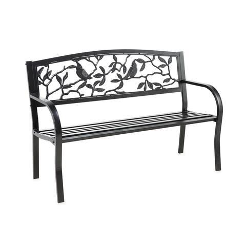 Cardinals Metal Garden Bench - N/A