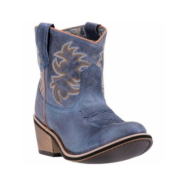 Laredo Western Boots Womens Sapphyre Leather Cowboy Navy