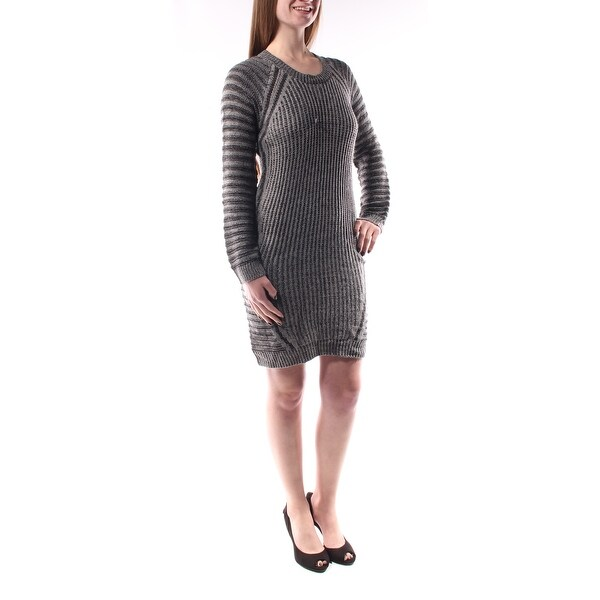 5618fe61a1cf Shop NY COLLECTION Womens Gray Long Sleeve Scoop Neck Midi Shift Dress  Petites Size  M - On Sale - Free Shipping On Orders Over  45 - Overstock -  23452294