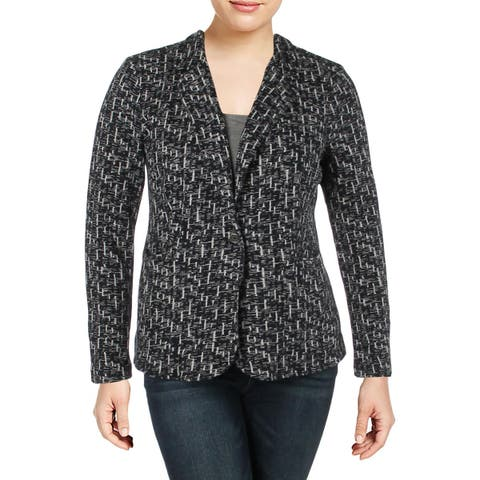 Nic + Zoe Womens On The Go Blazer One-Button Long Sleeve