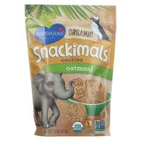Barbara's Bakery Snackimals Cookies - Oatmeal - Case of 6 - 7.5 oz.