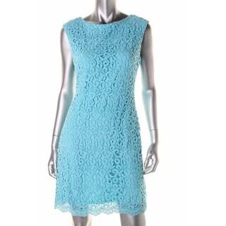 Lauren Ralph Lauren Womens Petites Crochet Boatneck Casual Dress - 12P