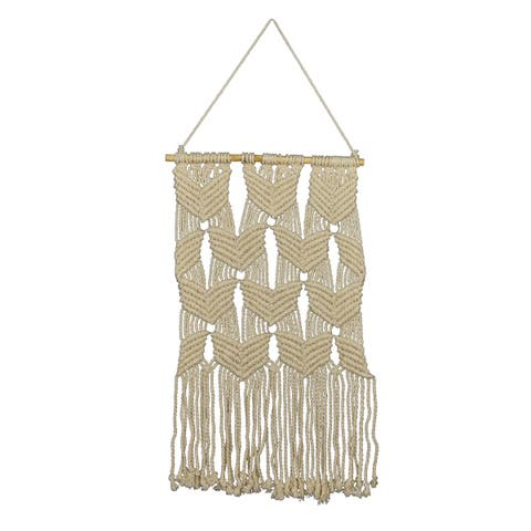 "Brewster X78260A Fetco Mayco 44"" x 17-3/4"" Cultural Cotton Wall Hanging Macramé -"