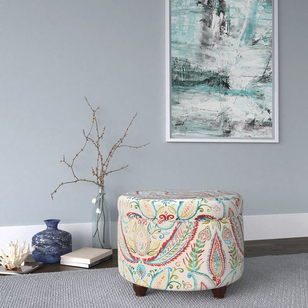 The Curated Nomad Hector Paisley Storage Ottoman