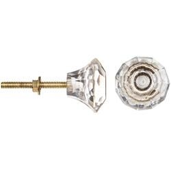 Hexa Clear - Heritage Hardware Glass Knob