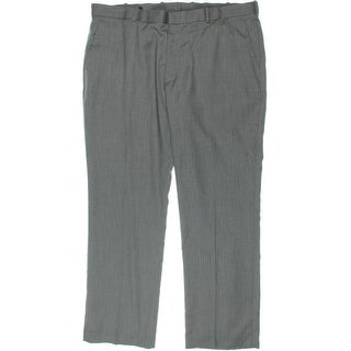 Perry Ellis Mens Herringbone Flat Front Pants