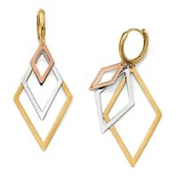 14k Tri-Color Gold Earrings