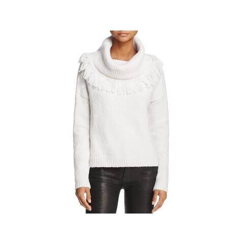 3682256769a John   Jenn Womens Alexa Pullover Sweater Fringe Cowl Neck