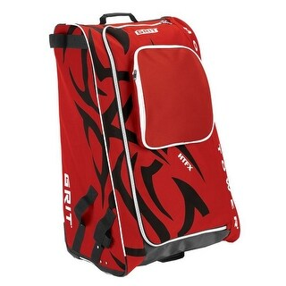 "Grit Inc HTFX Hockey Tower 33"" Wheeled Equipment Bag Red HTFX033-CH (Chicago) - 33''h x 20''w x 17''d"