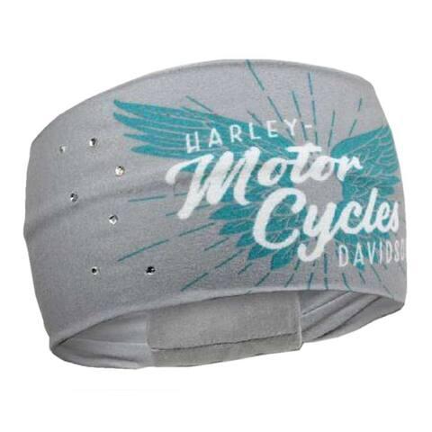 Harley-Davidson Women's Winged Script Pure Freedom Headband, Gray HP33563 - One Size