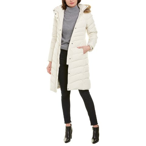 Brooks Brothers Quilted Long Down Coat