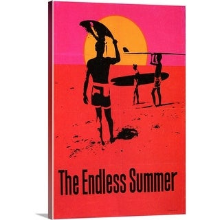 Premium Thick-Wrap Canvas entitled Endless Summer (1967) - Multi-color