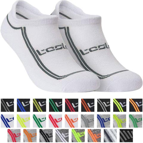 TSLA Tesla TM-MZS06 Low-Cut Comfort Cushion Athletic Socks - 6-Pack