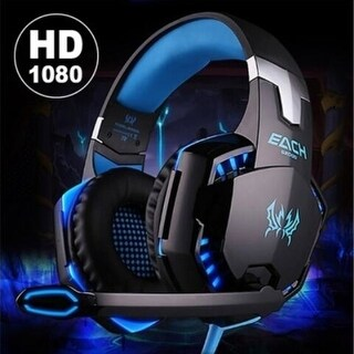 Gaming Headset Game Headphone Headset Earphone Headband with Mic Stereo Bass LED Light for PS4 PC Computer Laptop Mobile Phones