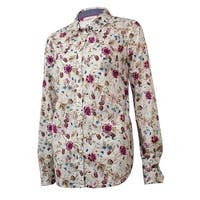 Charter Club Women's Country Casual Floral Buttoned Shirt - cloud combo