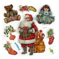 Unique Bargains Christmas Festival Cheer Home Wall Decoration Colorful Dimensional Stickers