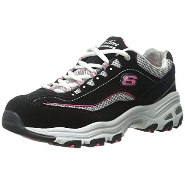 e67613bab853 Shop Skechers Sport Women s D lites Memory Foam Lace-Up Sneaker ...