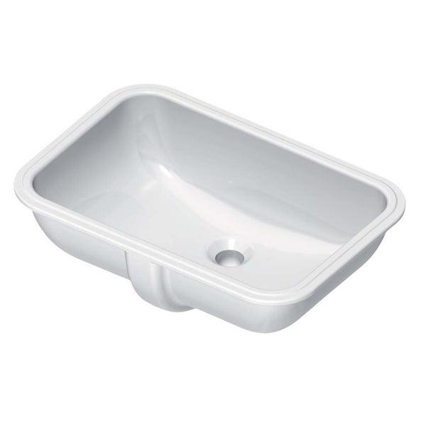 """Nameeks 724311 GSI 21-3/5"""" Ceramic Undermount Bathroom Sink with Overflow - White / No Hole"""