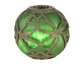 "Meyda Tiffany 22120 6"" H Castle Butterfly Orb Shade"