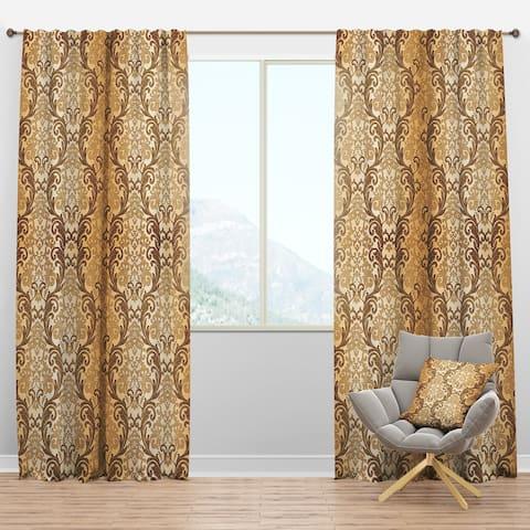 Designart 'Damask pattern' Mid-Century Modern Blackout Curtain Panel