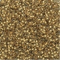 Toho Round Seed Beads 15/0 989F - Frosted Gold-Lined Crystal (8 Grams) - Thumbnail 0